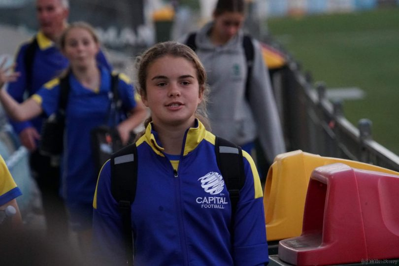 Isabella Hindmarsh in July prior to the ACT match against NT