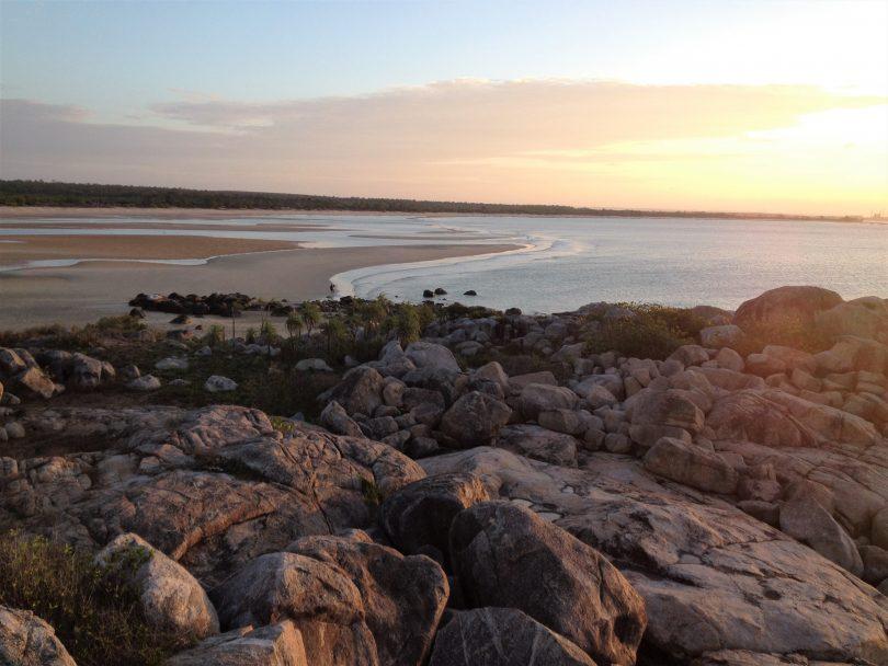 Looking back over Woody's beach near Nhulembuy