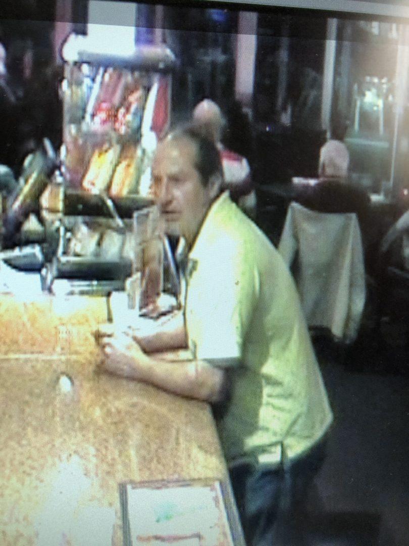 Recent CCTV footage of Mr Kleinert