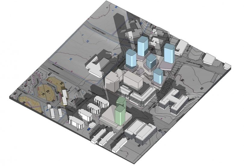 Map of the proposed towers