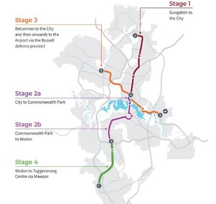 The light rail network