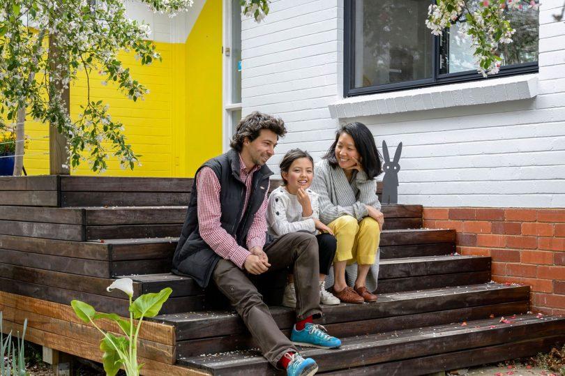 Macquarie residents Caroline, Joe and Myah