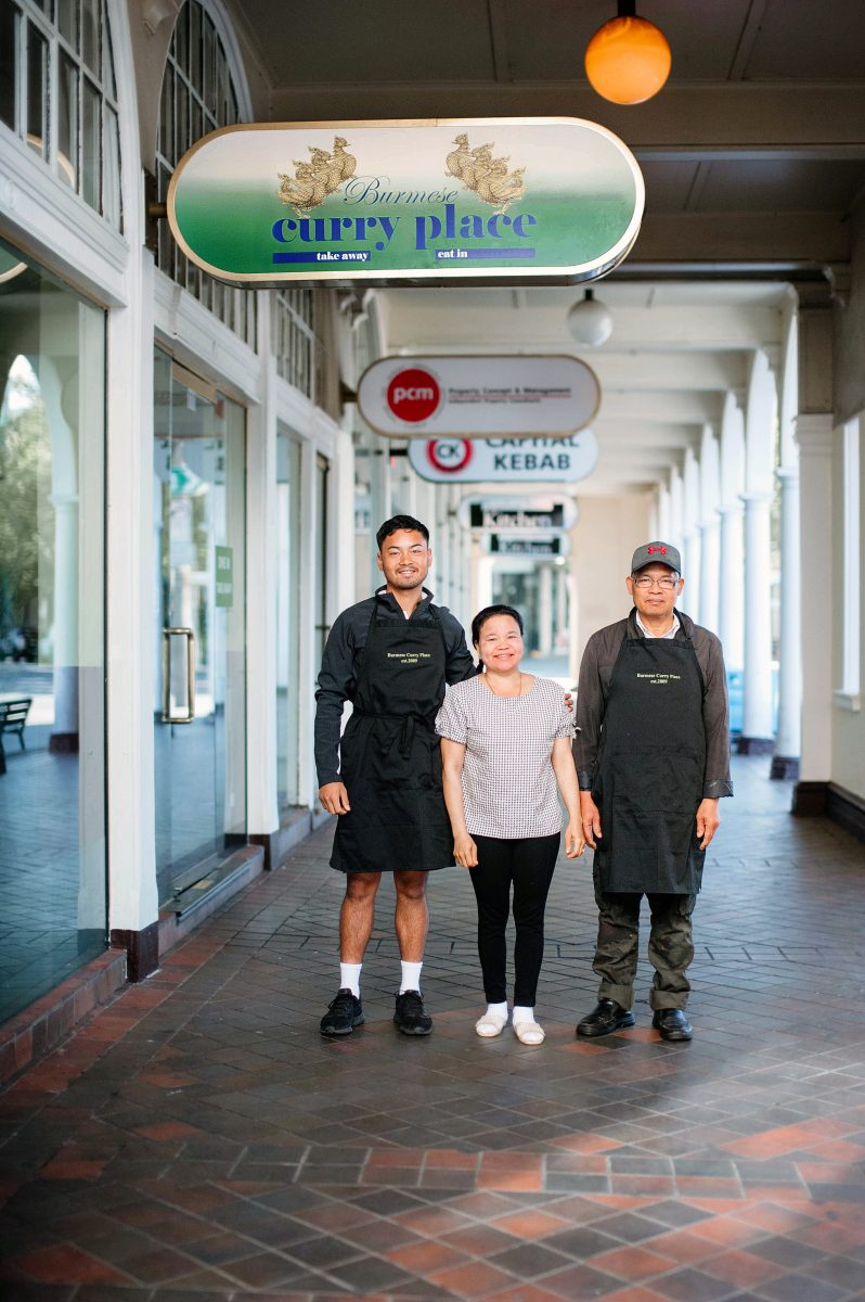 Burmese curry place owners