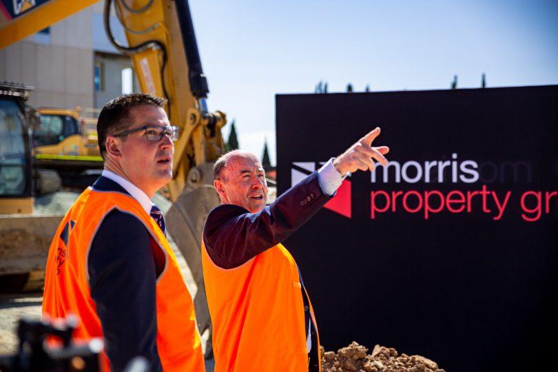 Barry Morris with Senator Zed Seselja
