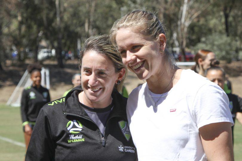 Coach Heather Garriock and Elise Thorsnes