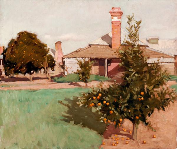 Hugh Ramsay's 'Burrabunnia with orange tree'