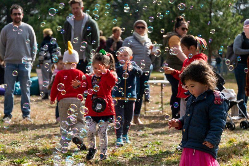 Bubbles at Haig Park