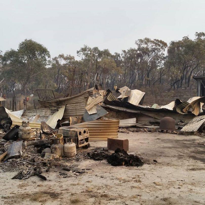 Dog Leg Farm was destroyed by bushfire