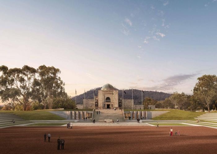 Artist's impression of the redeveloped Australian War Memorial.