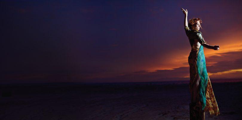 Amanda Palmer at sunset