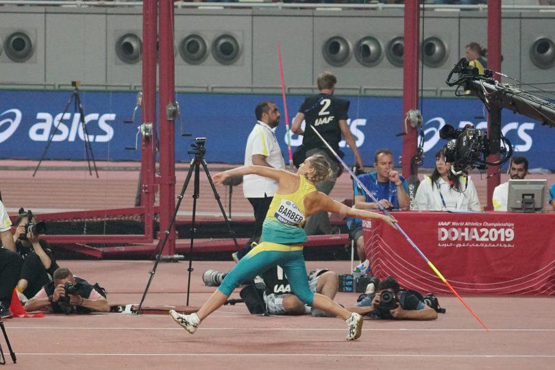 Kelsey Barber in action