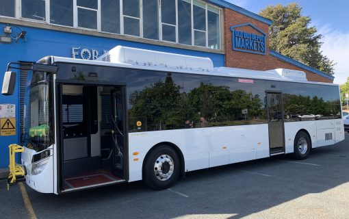 New electric bus joins Transport Canberra fleet for 12-month trial