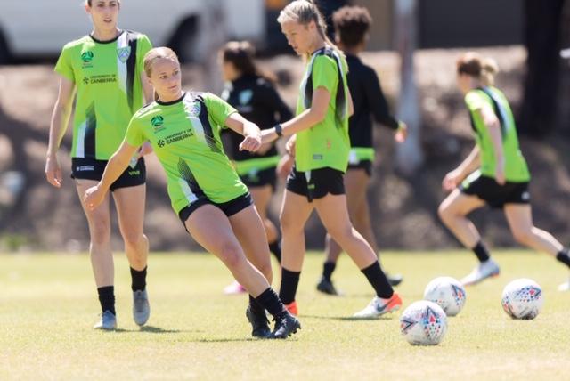 Hayley training with team mates