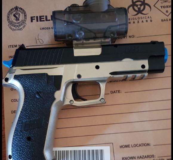 Firearm seized