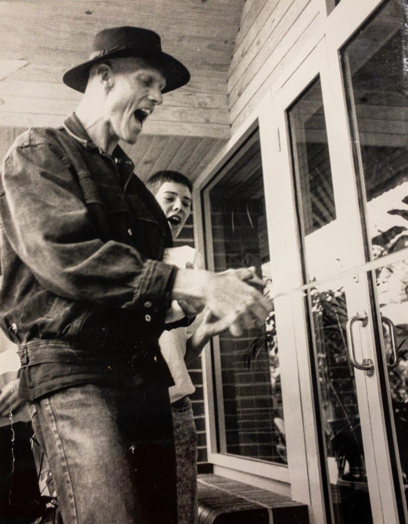 Peter Garrett opening the centre in 1989