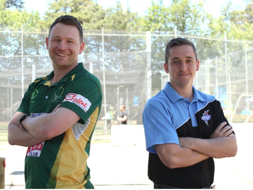 Weston Creek Molonglo Cricket Club Captain, John Rogers and Queanbeyan Cricket Club Captain, Mark Solway