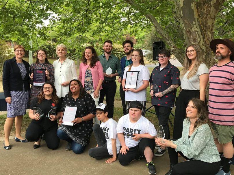 Woden Community Service Yogie Award winners