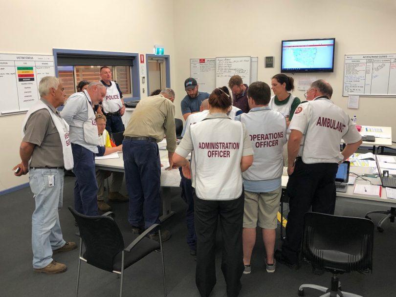 Bega Valley emergency staff