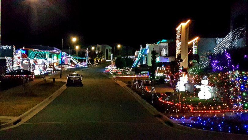 Huddy St by night