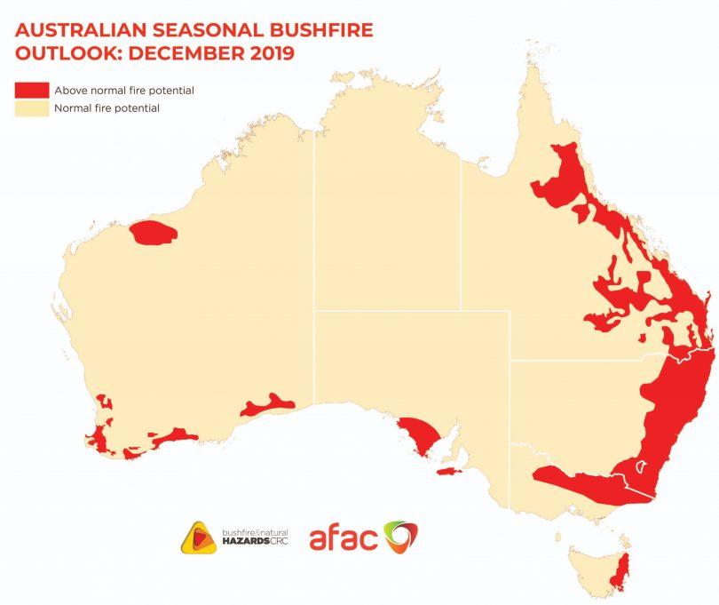 Australian Seasonal Bushfire Outlook: December 2019