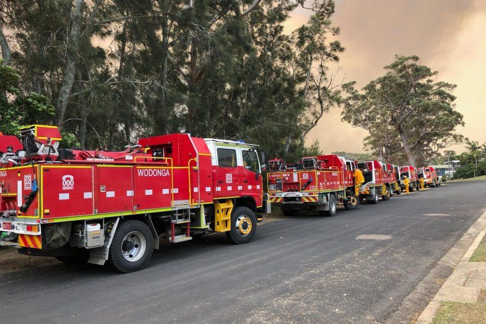 Fire brigade arrive in South Durras