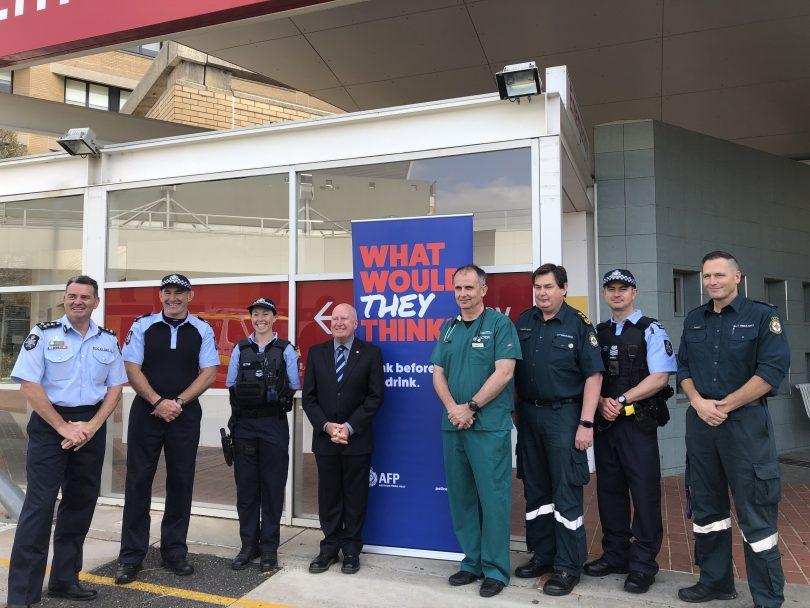 ACT emergency staff with Mick Gentleman