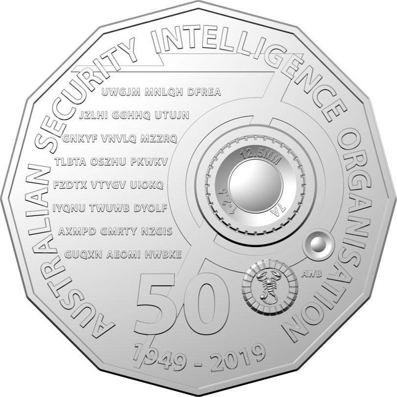 Secret message 50-cent piece