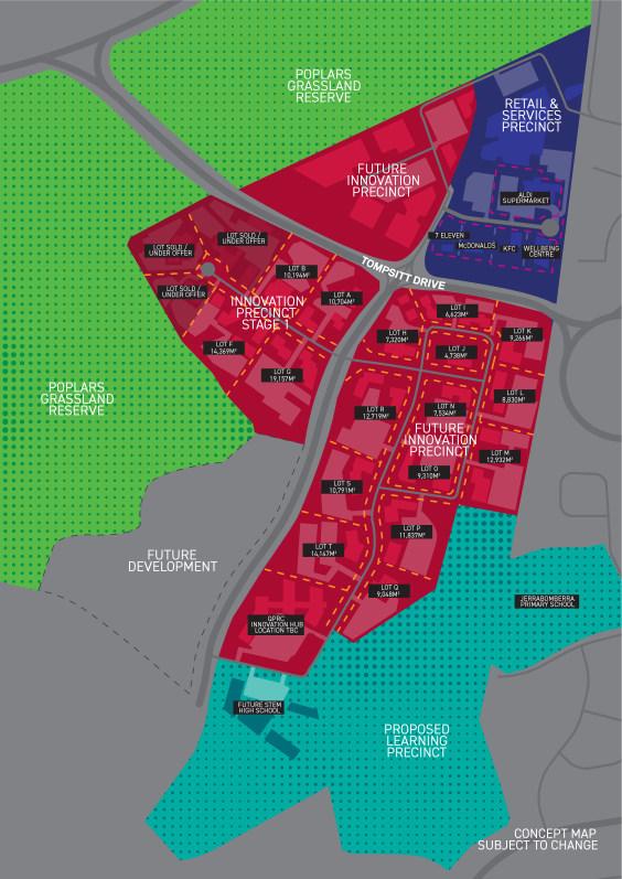 The Poplars site masterplan