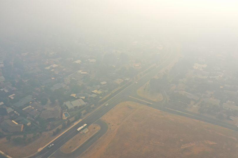 A smoky Weston Creek