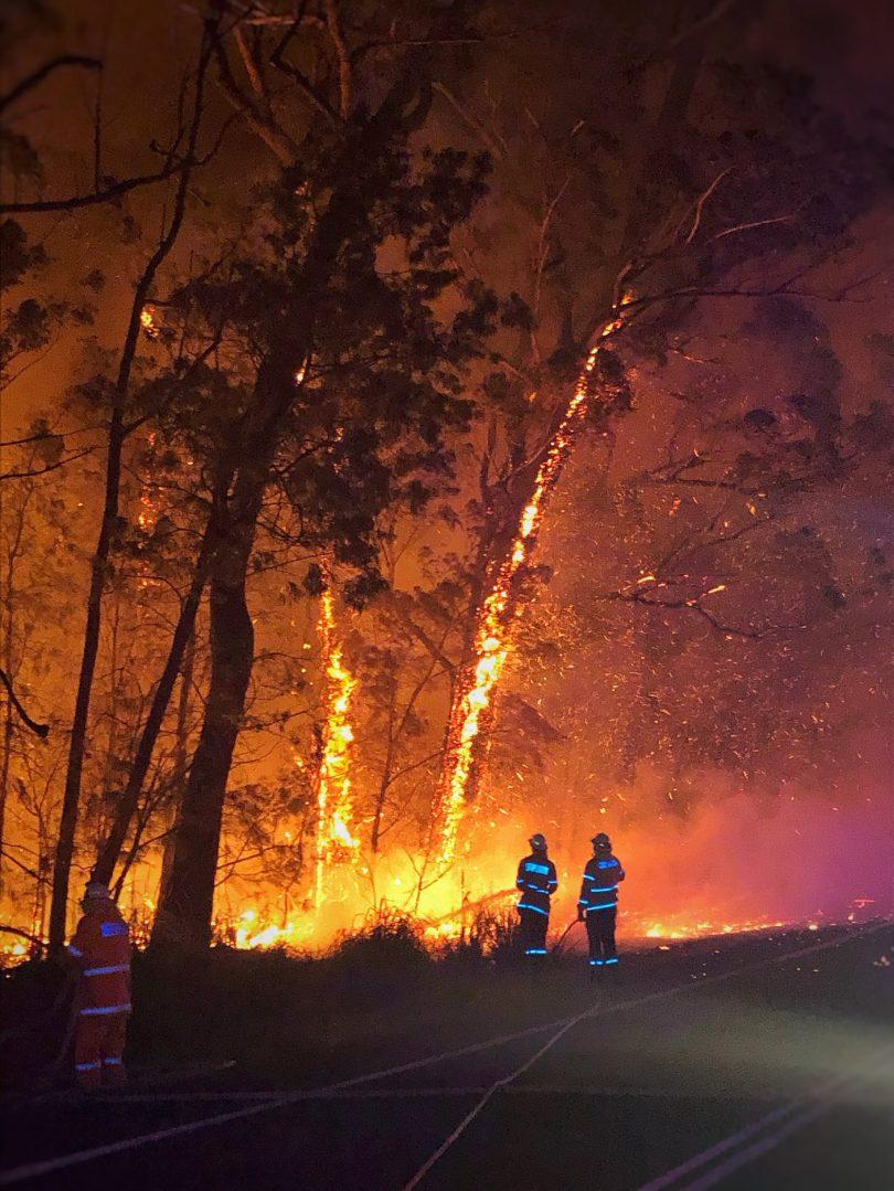 Currowan fire (Shoalhaven LGA)