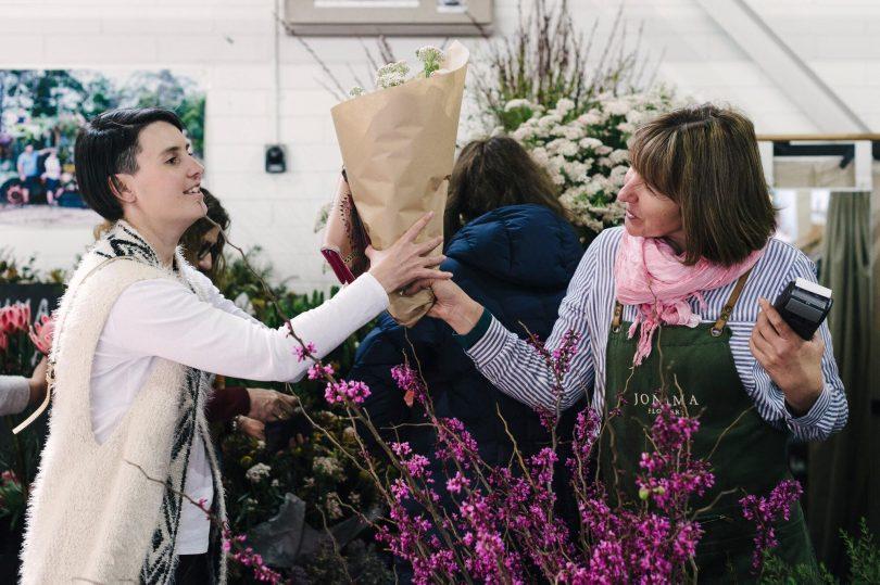 Handmade Markets in Canberra - flower stall holder