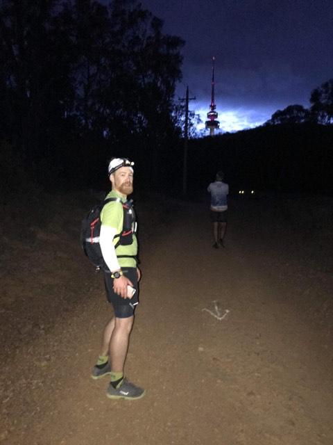 Brendan during the run