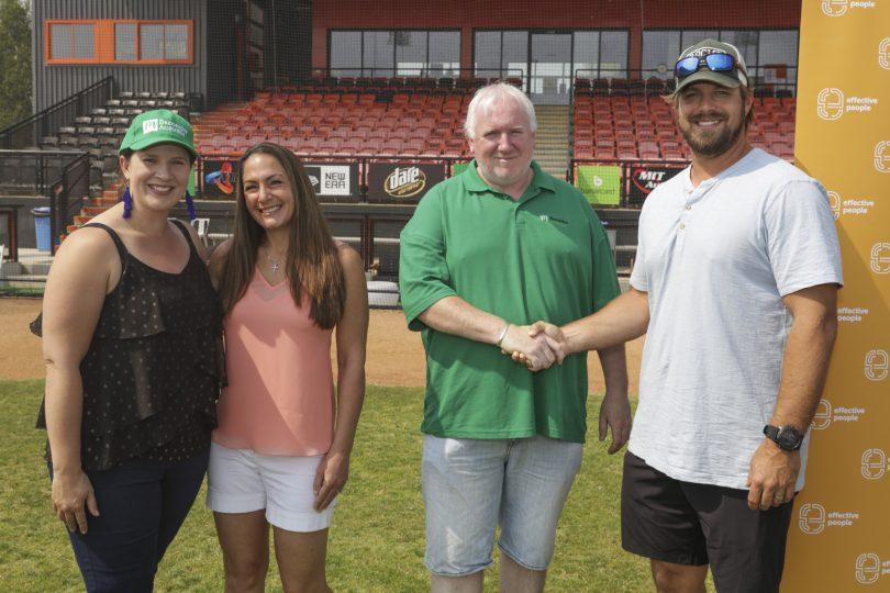Megan-Kate and JJ Hoover with Barnardos Canberra