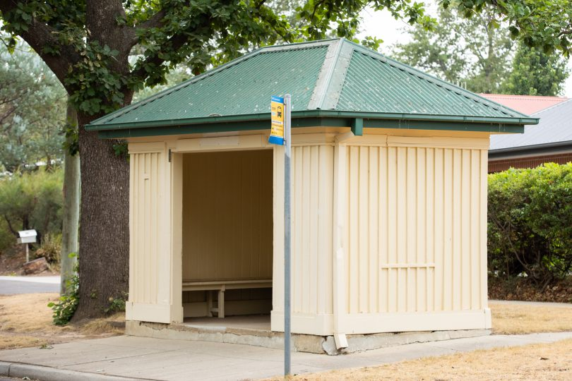 Timber bus shelter