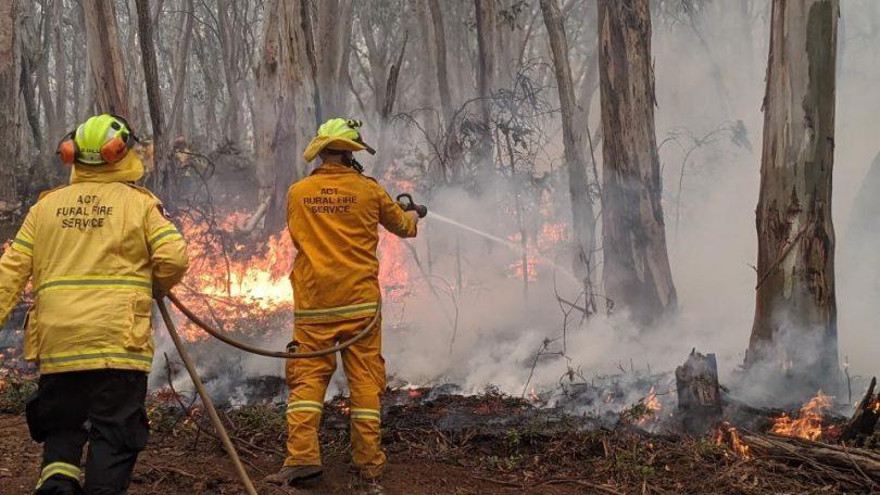 Hall Volunteer Rural Fire Brigade, ACTRFS, Adaminaby complex fire