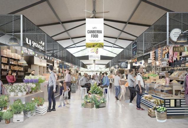 European style market hall