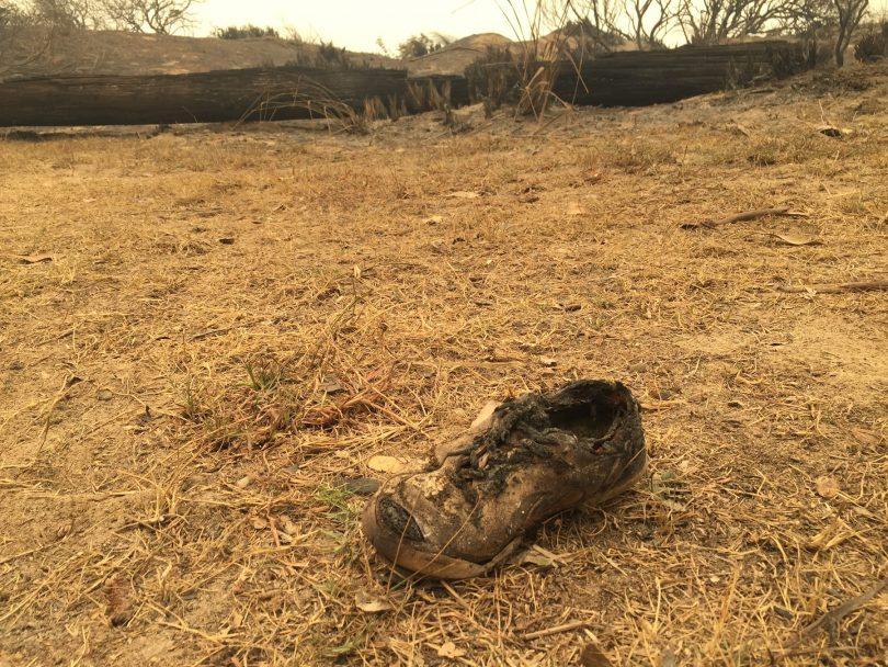 Burnt shoe