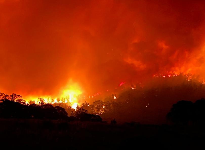 Orroral Valley bushfire
