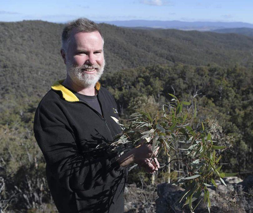 James Fitzgerald in bushland.