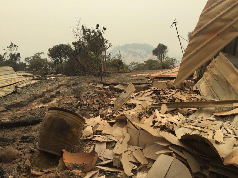Bushfire remains
