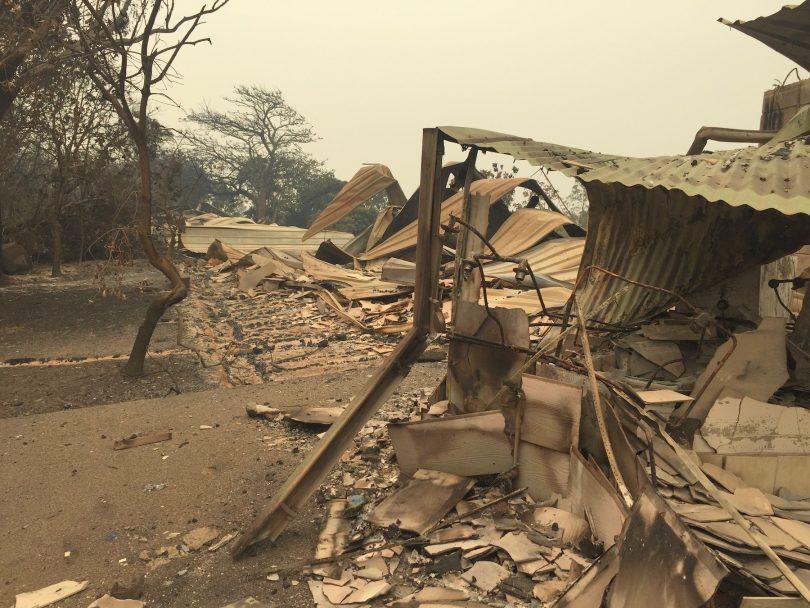 Bushfire damage