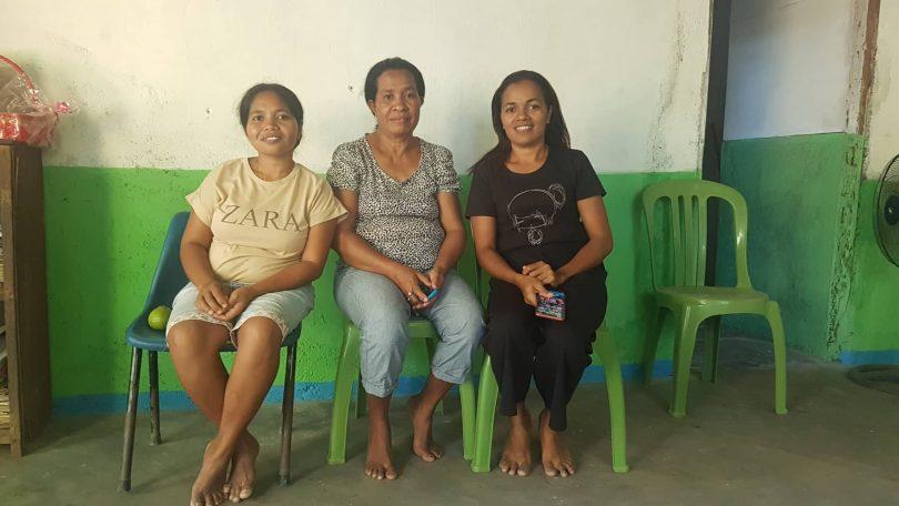 Abundant Water vendor Sabina Ximenes (left)
