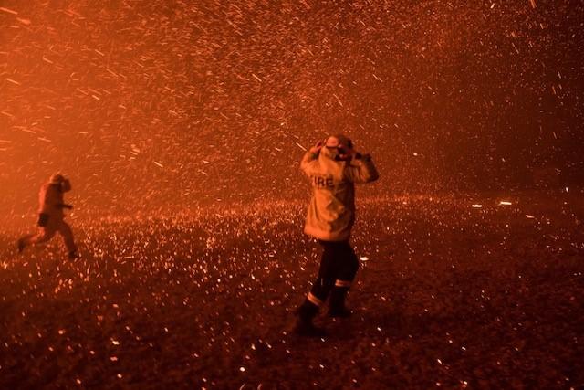 Bushfire photo from Nick Moir