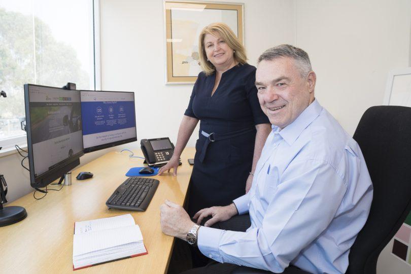 Maria and Ian Lindgren in office.