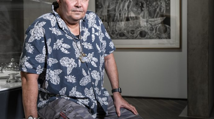 Share your stories with Indigenous artist Arone Meeks at NGA's free Art Weekend