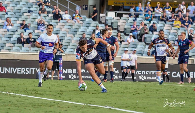 Try time for the Brumbies