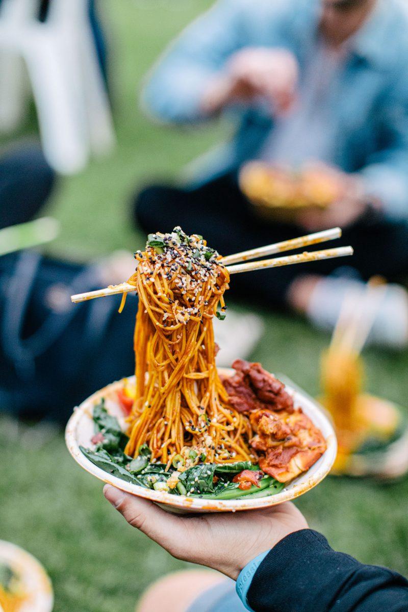 Floating chopsticks and Flying Noodles