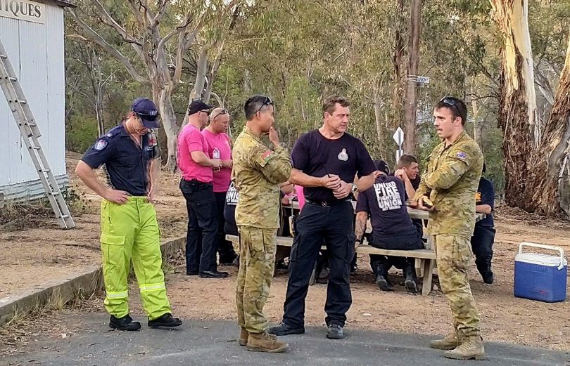 Orroral Valley fire, army and emergency services