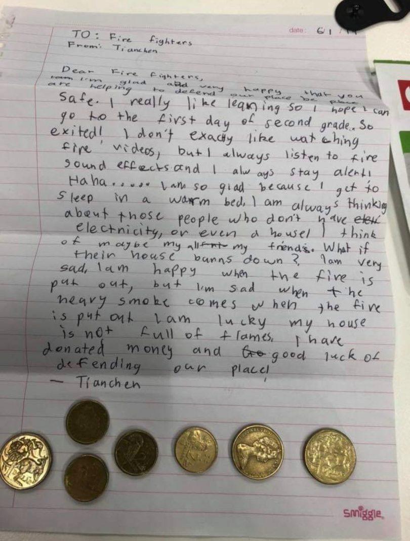 Tianchen Wei's letter