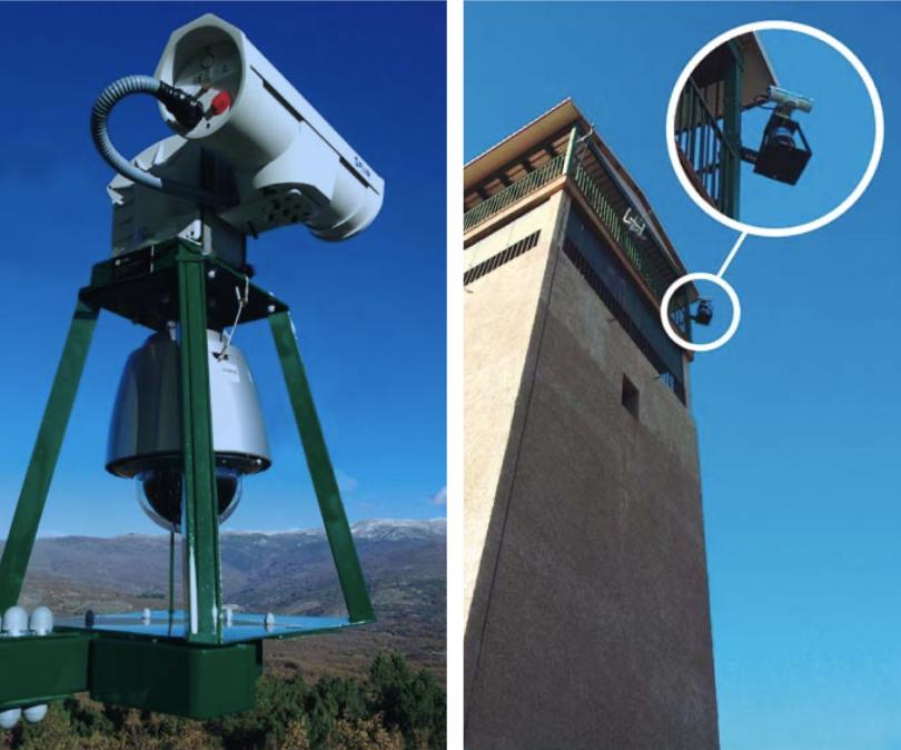 Indra bushfire detection cameras